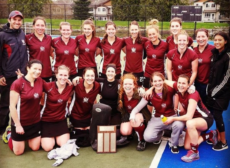 2016 Vancouver Womens Field Hockey Association Champions: West Vancouver Millionaires