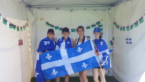 Quebec girls having some fun and supporting their boys