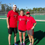 Haley Wickenheiser  stopped by to check out Canada's other hockey
