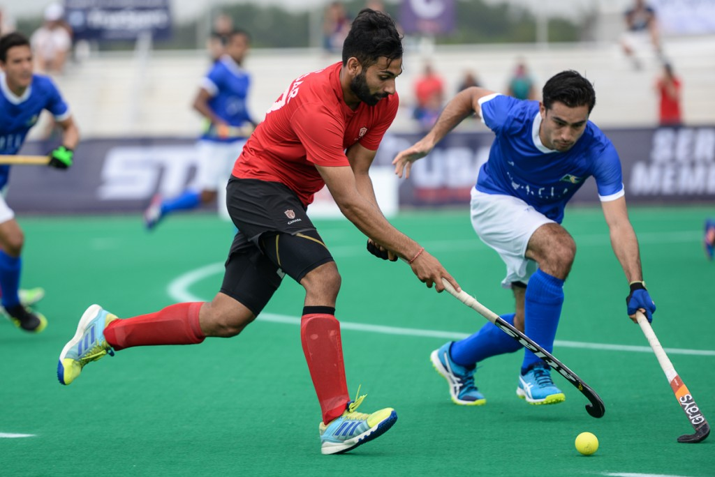 Game 2 of the 2017 Pan American Cup. Canada takes 2-0 over Brazil. (Yan Huckendubler/PAHF)