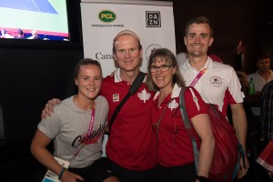 The Johnston family spend some time together before the 2018 Commonwealth Games gets underway. Photo/Dan Galbraith