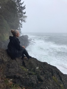 Alanna Martin hiking the West Coast Trail near Port Renfrew