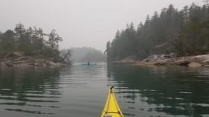 Linda kayaking