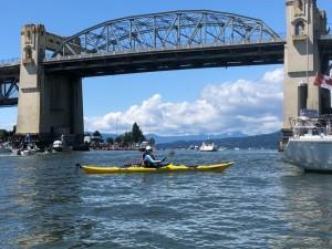 Lynda Lawrence kayaking